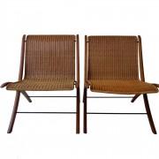 """Peter Hvidt, Orla Mølgaard Nielsen pair """"X"""" lounge chair for Fritz Hansen"""