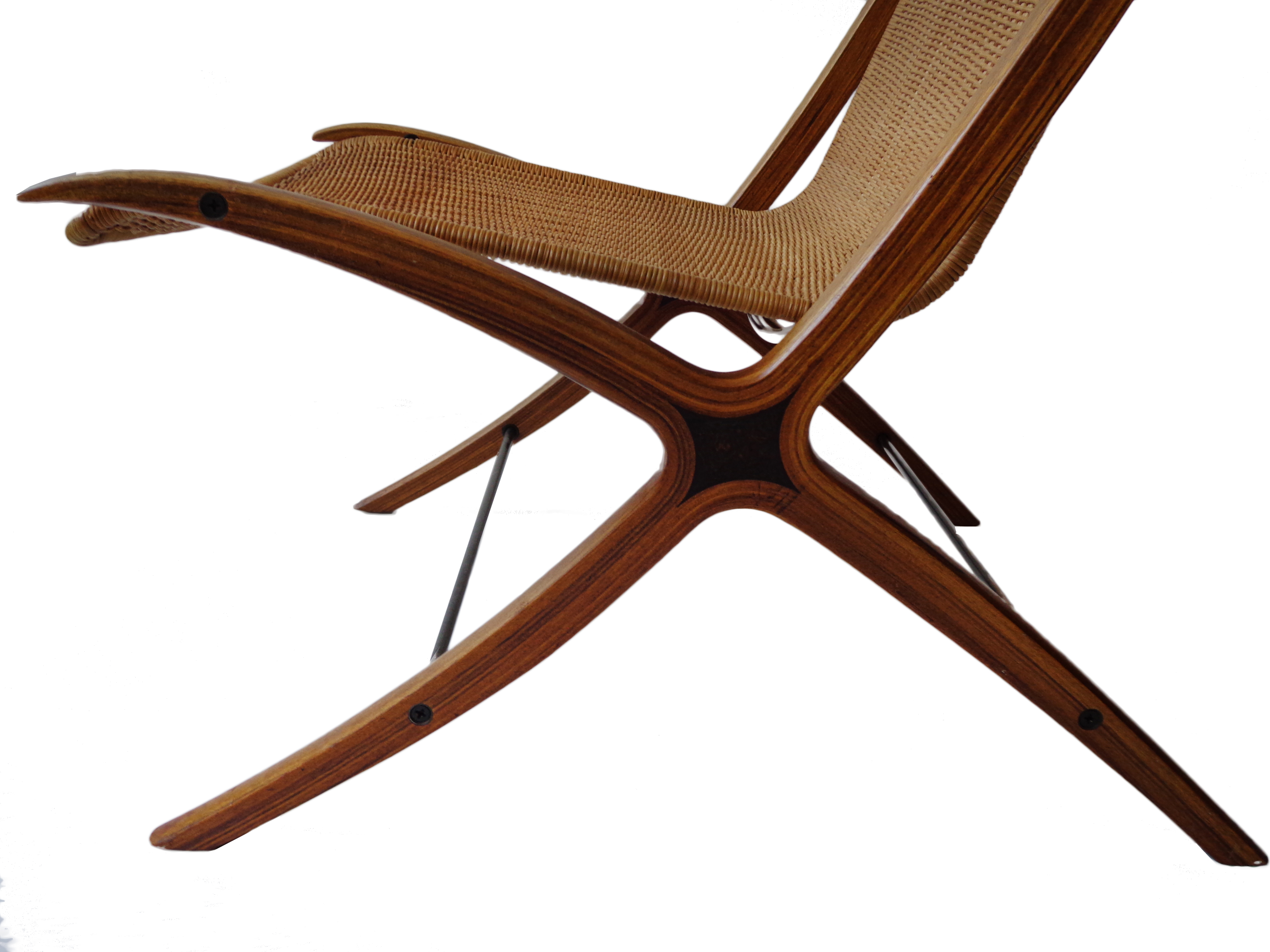 "Peter Hvidt, Orla Mølgaard Nielsen pair ""X"" lounge chair for Fritz Hansen"