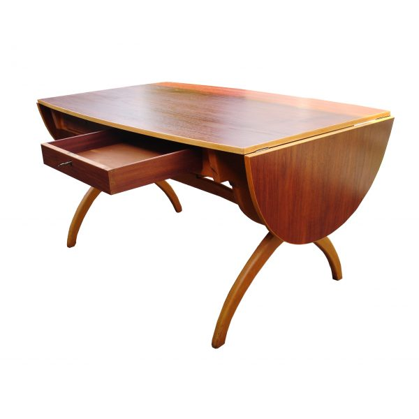 Børge Mogensen Danish Teak and Beech Drop-Leaf Desk/Table