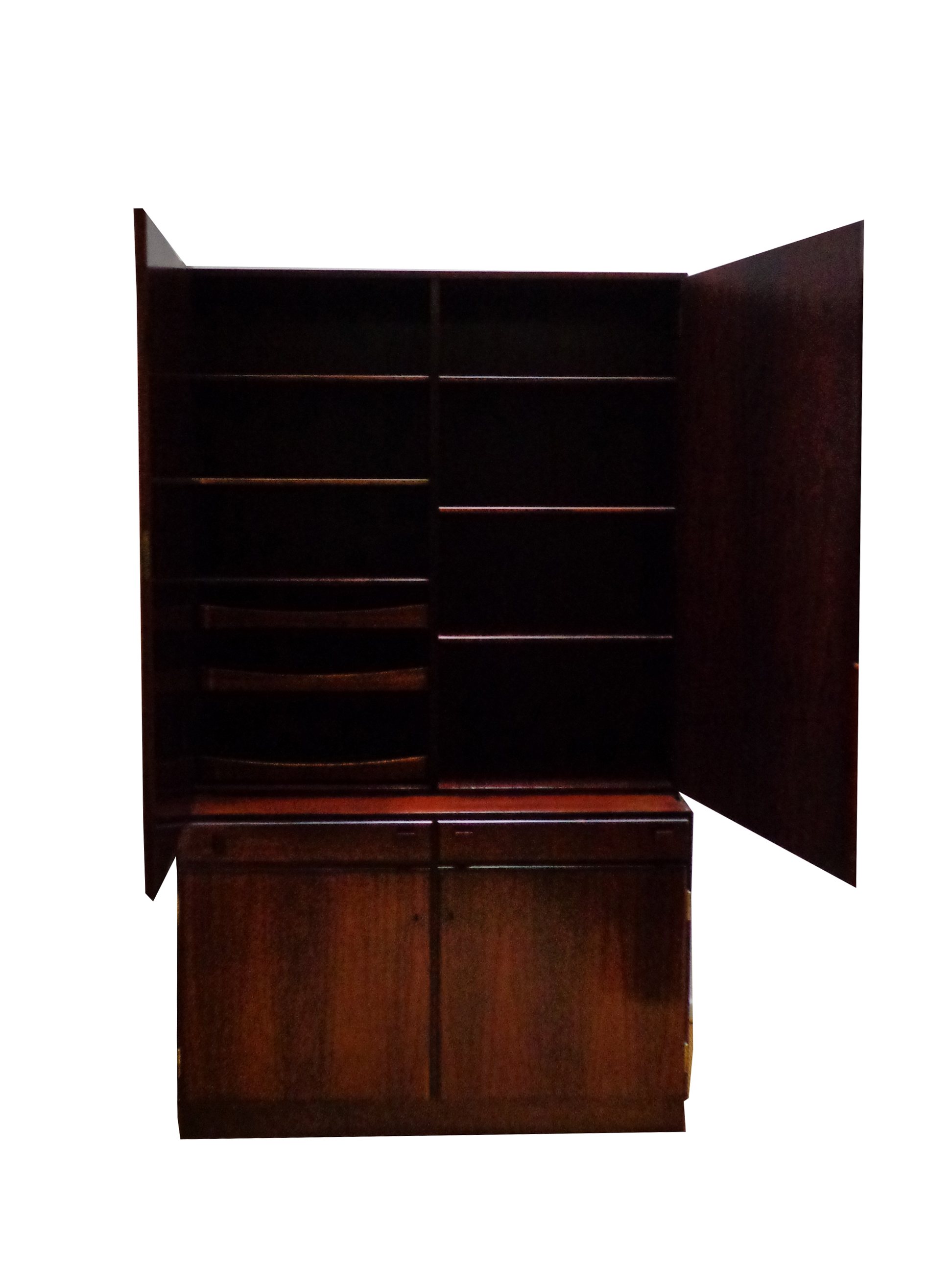 Danish Wall Console in Rosewood made by O. Bank Larsen Møbelfabrik 1960s