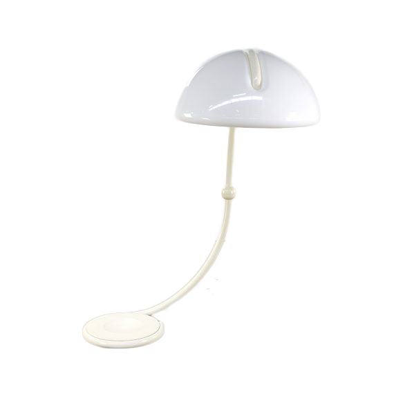 Elio Martinelli white Serpente floor light for Martinelli Luce 1960s
