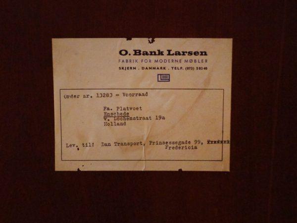 Danish Cabinet in Rosewood made by O. Bank Larsen Møbelfabrik 1960s