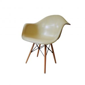 Charles and Ray Eames Dining armchair DAW Herman Miller off-white