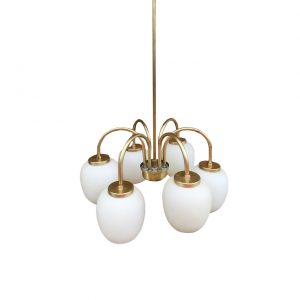 Danish chandelier by Bent Karlby 1960s for Lyfa