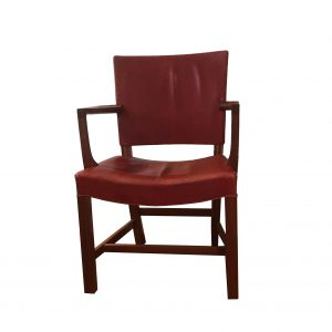 Kaare Klint armchair in original red indian leather