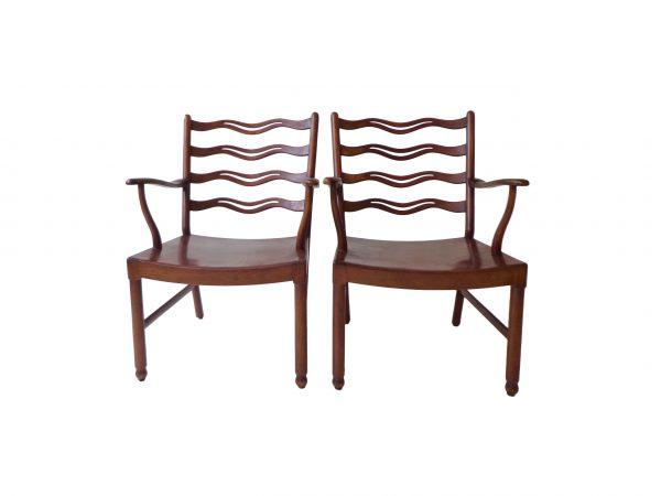 Pair of Ole Wanscher armchairs for Fritz Hansen