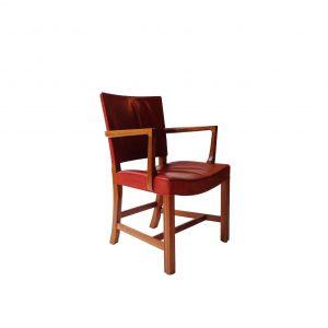 Kaare Klint armchair in original red indian leather