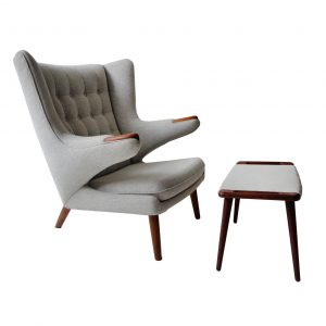 Hans J. Wegner Papa Bear chair and stool