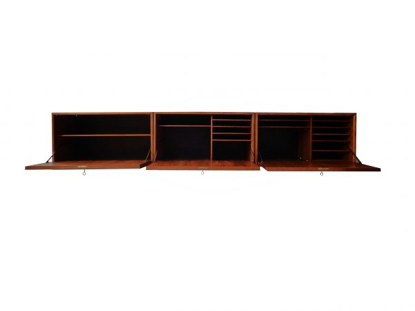 Wall cabinet in teak by Poul Cadovius Danish 1960s