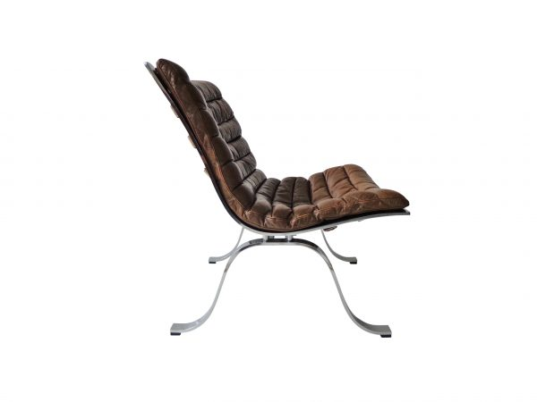 Arne Norell Ariet easy chair in cognac leather