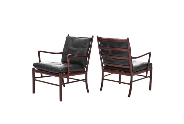 Ole Wanscher pair of Colonial armchairs for P. Jeppesen, Denmark 1960s