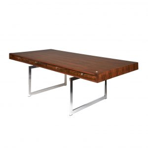Bodil Kjaer Freestanding rosewood executive desk 1960s Danish